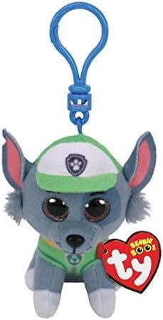 T Y Ty Paw Patrol ROCKY dog clip Plush Key Chain product image