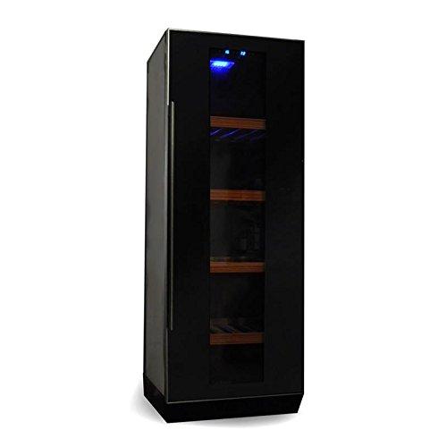 Klarstein Weinkühlschrank Weinkühler Getränke-Kühlschrank (freistehend, Glastür, 270 Liter, Regaleinschübe, Aktivkohlefilter) schwarz