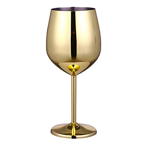 WSYW Verre à vin rouge en acier inoxydable, verre à champagne incassable, verre à cocktail, verre à vin blanc, accessoire de bar, jus, boisson, champagne, 500 ml