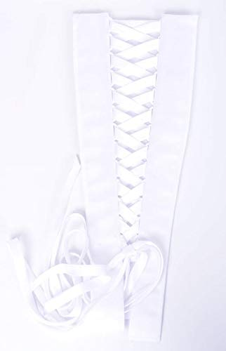 Corset Kit Zipper Replacement for Wedding and Bridal Gown for Easy Alteration Lace-Up to Make Dress Bigger and Fit Better (White Satin)