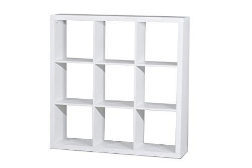 "Kit Closet Estantería ""Kubox"" 9 huecos blanco"
