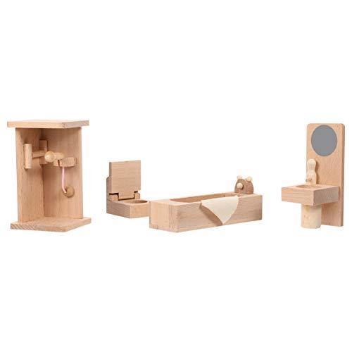 TOYANDONA 1:12 Casa de Muñecas Muebles de Baño Casa de Muñecas de Madera Bañera Inodoro Muñecas Casa Casa de Juegos Accesorio para Niños Niños
