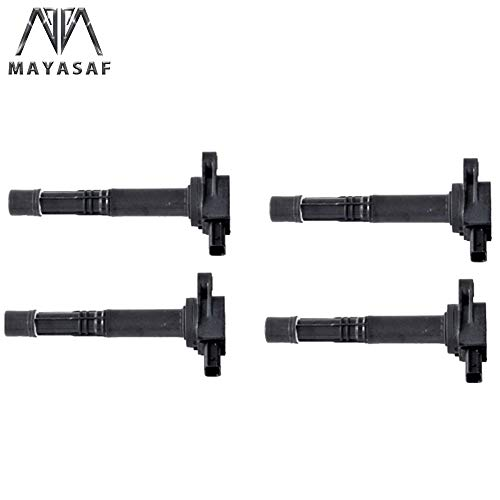 MAYASAF UF311x4 Pack of 4 Ignition Coils Replacement for Acura CSX RSX Honda Civic Si 2.0L S2000 Accord DX CR-V Element 2.4L Pilot V6 3.5L…