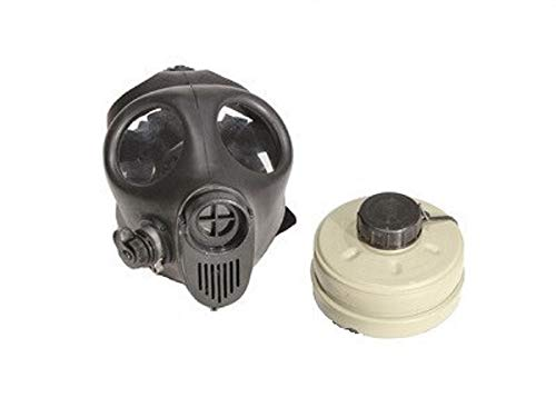 Gas mask (Small/Medium Size) with Filter Black