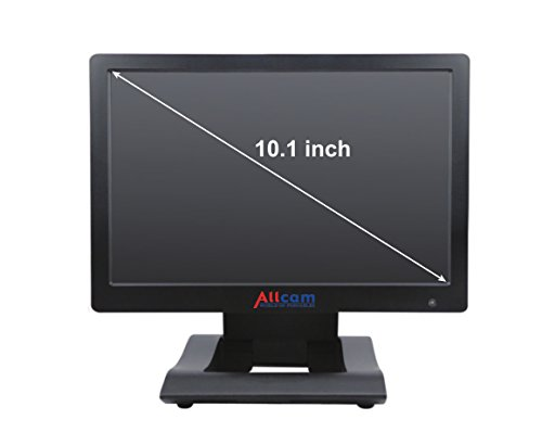 Allcam 10.1 Inch HD LCD LED Monitor HDMI, DVI, VGA, 2x Video & 1x Audio In, Earphones Out