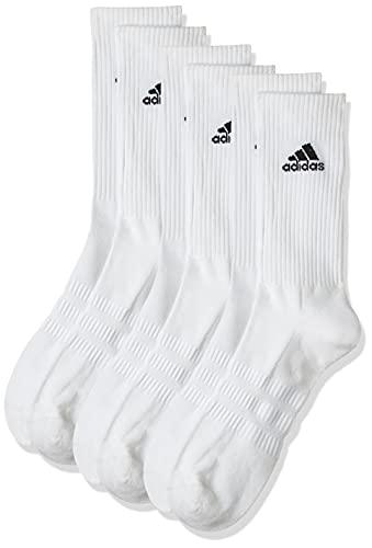 adidas Cushioned Crew Calcetines Largo Clásico, Unisex Adulto, Blanco (White/Black), L