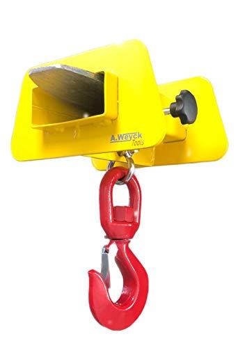 A. Weyck Tools Lasthaken für Gabelstapler Tragkraft 2t Maße: 290x145x230 Stapler Traverse