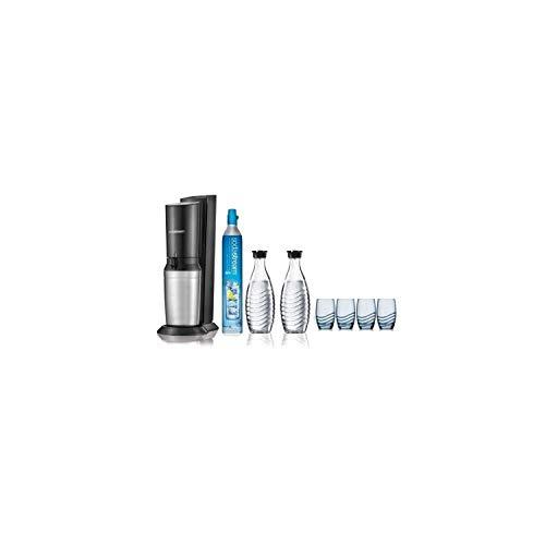 Sodastream Crystal albicv Wassersprudler mit 2 Karaffen und 4 Gläsern