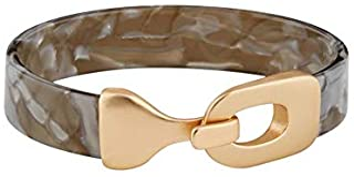Mud Pie Women's Resin Cuff Bracelet Gray, One Size