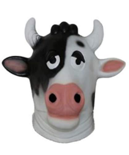 B-Creative Mscara de ltex para disfraz de carnaval (mscara de vaca cmica)