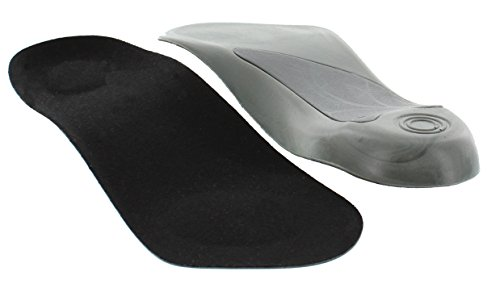 Arch Support Orthotics Ergonomic Mid Sole Support 3/4 Elevator Shoes Insole - 1/2 Inch Height Increase Heel Inserts for Plantar Fasciitis, Heel Pain and Pronation Relief for Men & Women (Small)