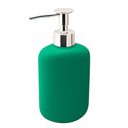 IKEA EKOLN - Dispensador de jabón (cerámica, 300 ml), color verde oscuro