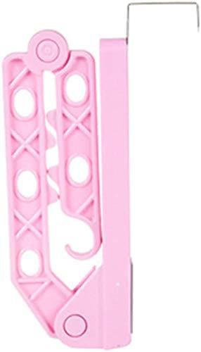 Tgsea Soporte de suspensión de Puerta Plegable Multifuncional para el hogar Gancho de Almacenamiento de Ropa Colgador de Ropa mágica
