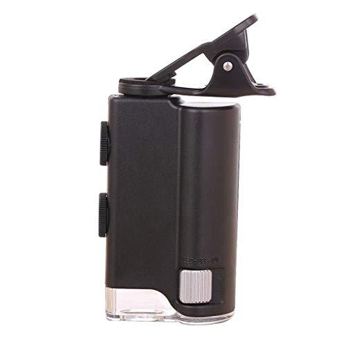 Mnjin Microscopio Portatile 60X-100X con microscopio Zoom a Lente d\'Ingrandimento a LED, per microscopio UV per la valutazione di Gioielli per biologia