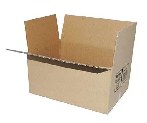 Cajas de Cartón, Cajas de Mudanza y Envíos Postales Pack de 12, Color Marrón (40x30x25cm)