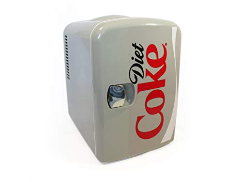 Coca-Cola DC04 Diet Coke Personal Cooler. 12 volt & 110V DC for your home, 6 Can, gray