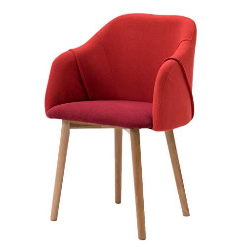XXT Silla de comedor, simple silla de escritorio, respaldo creativo, silla de ocio, silla de comedor para adultos en casa duradera (color: rojo-A)