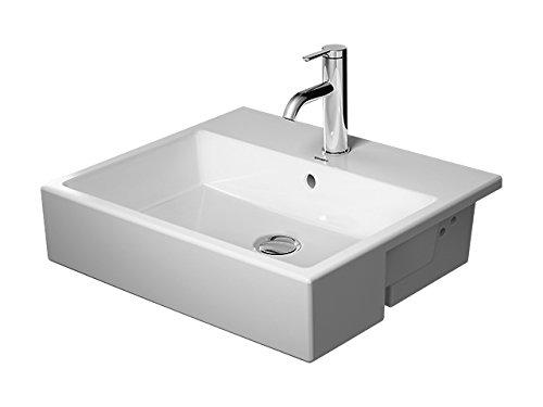 Duravit Halbeinbau-Waschtisch Vero Air 550mm 3 Hahnlöcher weiß, 0382550030
