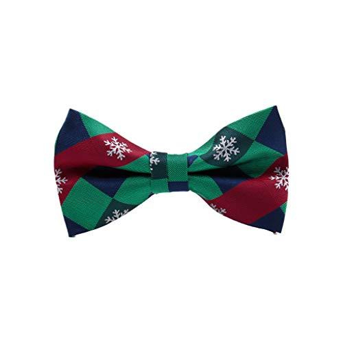 Zhoujinf-Männer Weihnachten Bowtie Klassische Weihnachtsbaum Schneeflocke Gedruckt Festival Holiday Party