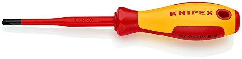 KNIPEX 98 25 02 SLS Schroevendraaier (Slim) PlusMinus Pozidriv® geïsoleerde meercomponenten-greep, VDE-getest gebruineerd 212 mm