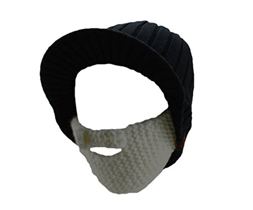 avadoo® Barba Gorro Freestyle Feins Trick Gorro de Invierno de algodón con botón de presión/Frost Underwear Gorro de Cap Negro/Blanco