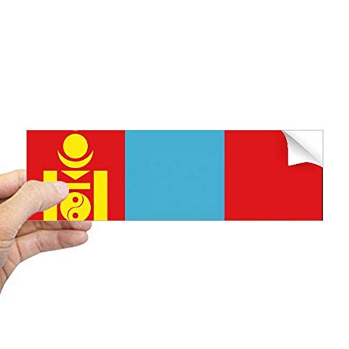DIYthinker Mongolië Nationale Vlag Azië Land Rechthoek Bumper Sticker Notebook Window Decal