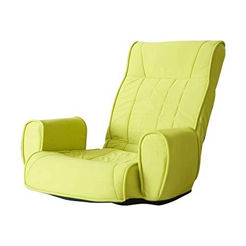 Duan hai rong DHR-Sitzsäcke Bodenstuhl Sofa verstellbar mit Memory Foam, Faltbare Boden Sitz Gaming Kissen for Erwachsene, Meditation Stuhl mit Rückenstütze (Farbe : Grün)