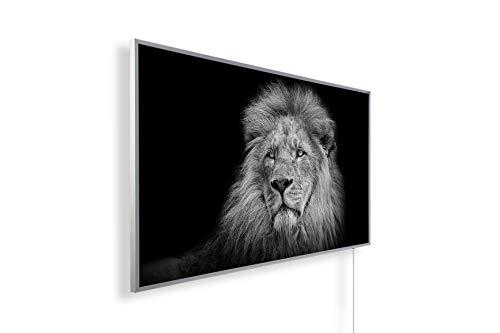 Könighaus Fern Infrarotheizung - Bildheizung in HD Qualität mit TÜV/GS - 200+ Bilder – mit Könighaus Smart Thermostat und APP für IOS/Android - 800 Watt (69. Löwe Majestätisch)