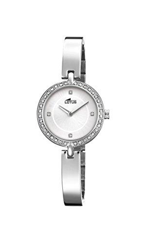 Lotus Watches Reloj Análogo clásico para Mujer de Cuarzo con Correa en Acero Inoxidable 18547/1