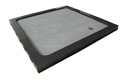 Duschwanne aus Naturstein, Duschtasse, Granit, 90*90cm, India Black Schwarz
