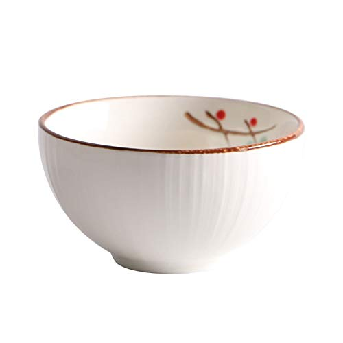 Tazón QUANFANG Estilo japonés y vajilla de Viento Plato de arroz de cerámica Restaurante en casa Plato de Sopa Plato de Fideos Plato de Plato