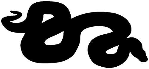 Samunshi® Python Schlange Tier Aufkleber Autoaufkleber Sticker für Auto Motorrad Wohnmobil Scheiben in 9 Größen und 25 Farben (10x4,5cm schwarz)