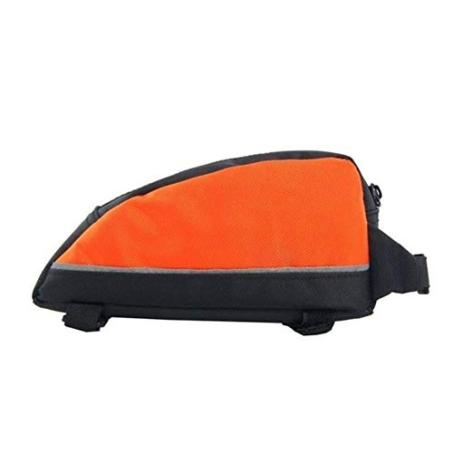 GHJK ZTMW Cycling Bicycle Bike Banana Bag Top Tube Bag Front Saddle Frame Pouch Outdoor (Color : Orange)