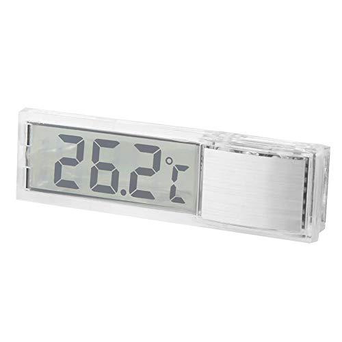 Fournyaa Termómetro de Acuario electrónico, Exquisito termómetro de Acuario único Adhesivo de Doble Cara, Muy Sensible y pequeño para el termómetro Interno del Cuerpo