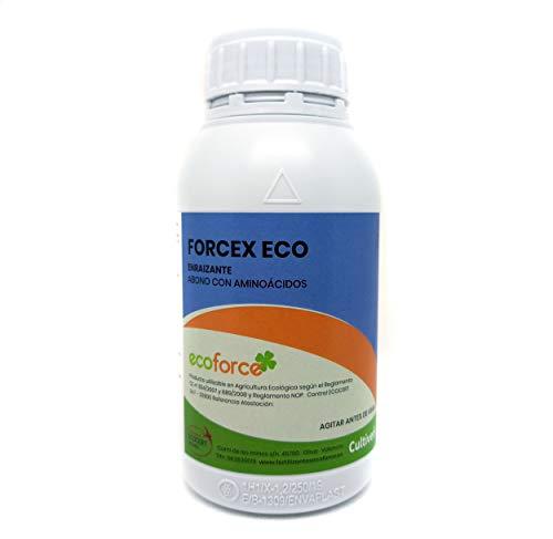 CULTIVERS Enraizante liquido Ecológico con hormonas naturales para esquejes, árboles, plantas y transplantes. Mejorador radicular elaborado con aminoácidos. Forcex Eco (250 Ml)