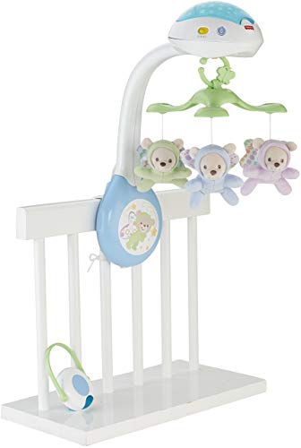 Fisher-Price- Butterfly Dreams 3-in-1 Projection Mobile Osito Polar Móvil, Multicolor (Mattel CDN41)