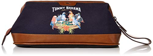 Tommy Bahama Men's Toiletry Travel Kit Hanging Bag with Zipper Pocket, Navy, One Size