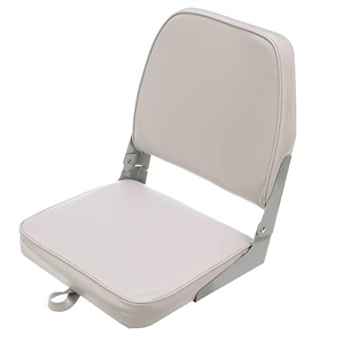 Attwood 98395GY Low-Back Padded Boat Seat, Gray, High-Impact Plastic Frame, 7 Inches W x 16 Inches D x 16 Inches H, One Size