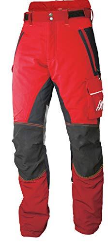 AX-MEN - Pantaloni antitaglio, modello Innovation AIR rosso/nero M (34L)