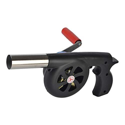 B Blesiya BBQ-Luftgebläse, tragbares Grillgebläse, BBQ-Ventilator für BBQ-Picknick im Freien kochendes Werkzeug