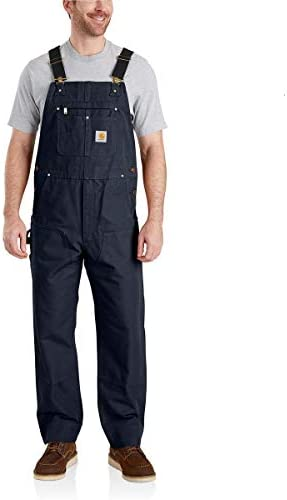 Carhartt Men s Relaxed Fit Duck Bib Overall Navy 34 x 32 product image