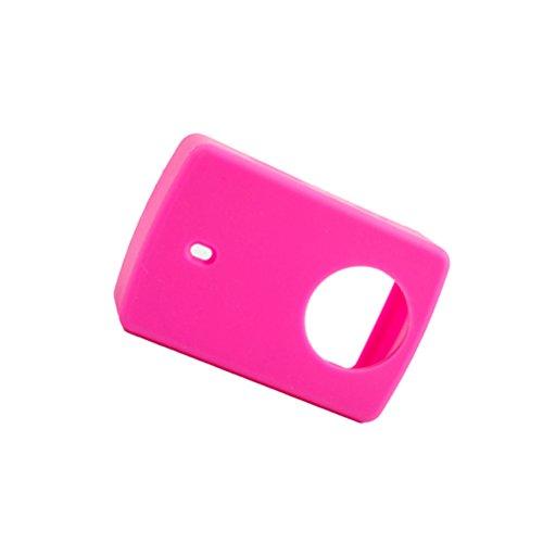 LEDMOMO funda protectora con tapa de lente cubierta de silicona suave para cámara de acción deportiva YI 4K (color rosado)