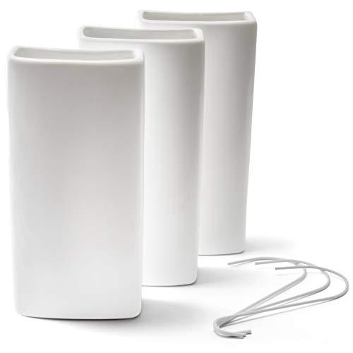 Ligano Heizkörper Luftbefeuchter weiß – Keramik Wasserverdunster für die Heizung – 3 Stück