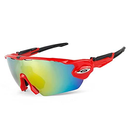 YYLI Gafas De Sol Deportivas para Hombres Y Mujeres, UV 400 Gafas Ciclismo Polarizadas con 5 Lentes Intercambiables, Gafas para Corriendo Moto Camping Y Actividades Al Aire Libre,5
