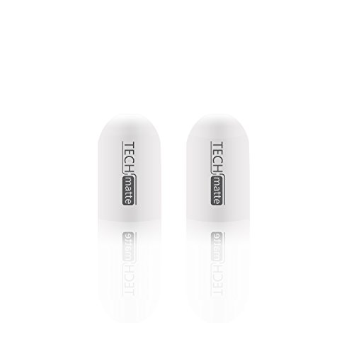 TechMatte Apple Pencil Cap, Apple Pencil Silicone Replacement Cap (2-Pack)