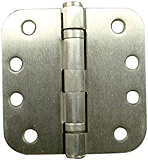 Hinge Outlet Commercial Door Hinges, 4 Inch with 5/8 Inch Radius, Ball Bearing, Non Removable Pin, Satin Nickel, 2 Pack
