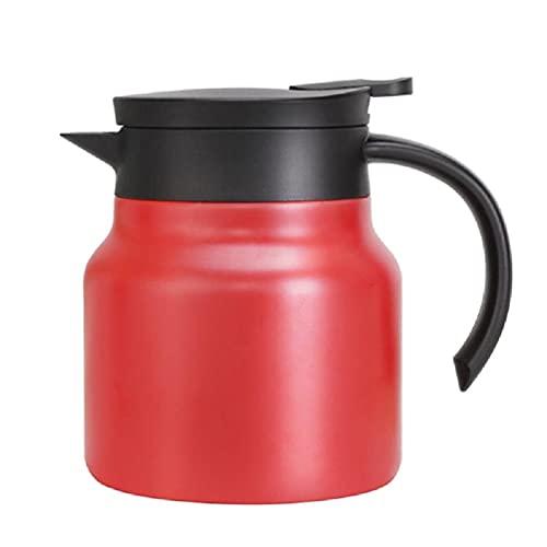 Caraffa termica per caffè in acciaio inox, con doppia parete, termoisolata e vaschette per bevande per tè e acqua in acciaio inox