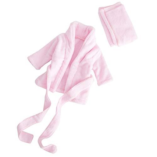Baby-Bademantel für Neugeborene, weiches Flanell, Decke, Nachtwäsche, Fotografie, Requisiten, Dusche, Geschenk Gr. 0-2 Monate, rose