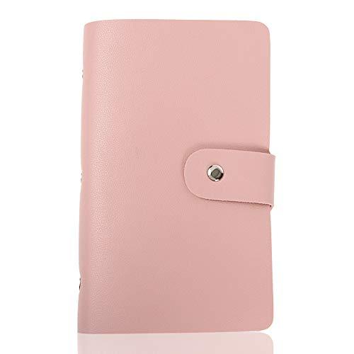 LASSE MOA カードケース 大容量 156枚収納 カードホルダー レディース メンズ 名刺ホルダー 名刺ファイル クレジットカードケース スキミング防止 (ピンク)