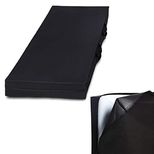 Lumaland Matratzen-Aufbewahrungstasche Matratzenhülle 100 x 200 x 25 cm mit 3-seitigem Reißverschluss und Tragegriff - platzsparend, atmungsaktiv - für Transport und Aufbewahrung - in 8 Größen